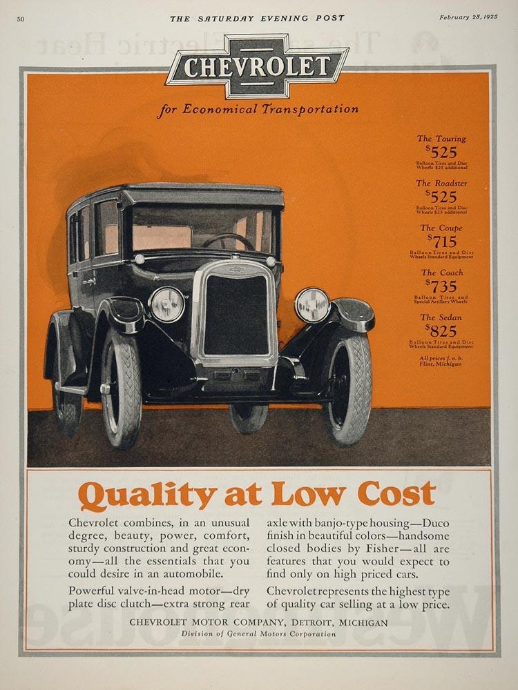 Marion Chevrolet Service >> Classic Car Ads: Chevrolet